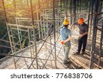 two business man construction... | Shutterstock . vector #776838706