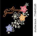 flowery embroidery design .for... | Shutterstock .eps vector #776840185