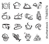 food icons | Shutterstock .eps vector #77685076