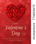 happy valentine's day greeting... | Shutterstock .eps vector #776854675