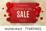 promo web banner for valentine... | Shutterstock .eps vector #776855602
