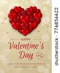 happy valentine's day red party ... | Shutterstock .eps vector #776856622