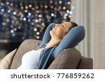 side view portrait of a relaxed ... | Shutterstock . vector #776859262