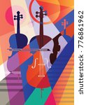 abstract musical background ...   Shutterstock .eps vector #776861962