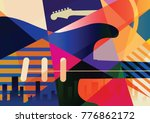 abstract musical background ... | Shutterstock .eps vector #776862172