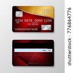 modern realistic credit card... | Shutterstock .eps vector #776864776