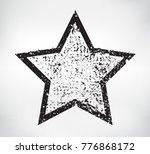 vector grunge star.grunge star... | Shutterstock .eps vector #776868172