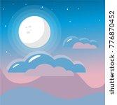 full moon vector flat...