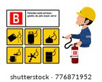 set of class b fire icon and ... | Shutterstock .eps vector #776871952