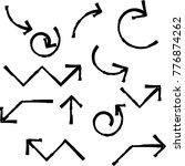 grunge dirt arrow vector. dry...   Shutterstock .eps vector #776874262