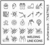 Welding Line Icon Graphic...
