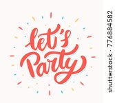 let's party banner.  | Shutterstock .eps vector #776884582