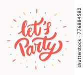 let's party banner.    Shutterstock .eps vector #776884582