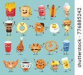 cartoon funny food characters... | Shutterstock .eps vector #776885242