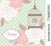 vintage floral romantic hand... | Shutterstock .eps vector #776885392