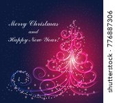 christmas and new year greeting ...   Shutterstock .eps vector #776887306