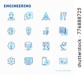 engineering thin line icons ... | Shutterstock .eps vector #776888725
