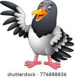 cartoon funny pigeon bird... | Shutterstock .eps vector #776888836