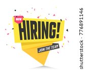 now hiring  join the team.... | Shutterstock .eps vector #776891146