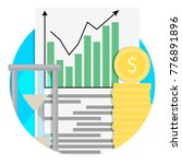 growth of financial capital... | Shutterstock .eps vector #776891896