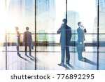 businesspeople in abstract city ... | Shutterstock . vector #776892295