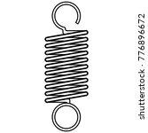 coil spring steel spring  metal ... | Shutterstock .eps vector #776896672