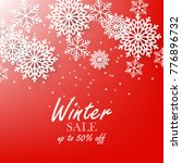 red winter background with... | Shutterstock .eps vector #776896732
