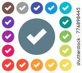 ok flat white icons on round... | Shutterstock .eps vector #776898445