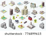set of isometric city buildings.... | Shutterstock .eps vector #776899615