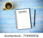 top view of notebook... | Shutterstock . vector #776900926