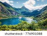 splendid summer scene of... | Shutterstock . vector #776901088