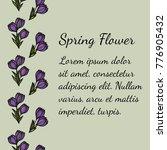 seamless vertical floral... | Shutterstock .eps vector #776905432