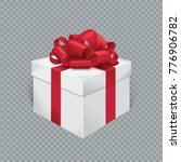vector realistic gift box with... | Shutterstock .eps vector #776906782