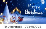 christmas tree and holidays... | Shutterstock . vector #776907778