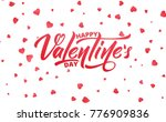 happy valentines day. text... | Shutterstock .eps vector #776909836