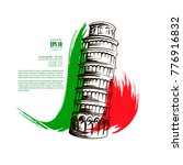 the leaning tower of pisa | Shutterstock .eps vector #776916832