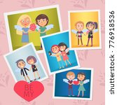 set of valentines day cards... | Shutterstock .eps vector #776918536