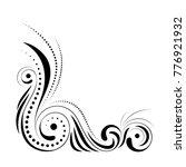floral corner design. swirl... | Shutterstock .eps vector #776921932