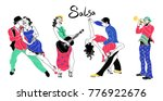 salsa party poster. set of...