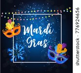 mardi gras party mask holiday... | Shutterstock .eps vector #776924656