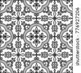abstract patterns cross doodles ... | Shutterstock .eps vector #776927206