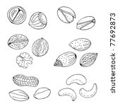 agriculture,almond,assorted,assortment,broken,cartoon,cashew,clip art,collection,decoration,delicious,design,dessert,drawing,drawn