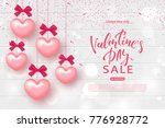 valentine's day sale banner.... | Shutterstock .eps vector #776928772
