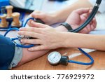 physician doctor is checking...   Shutterstock . vector #776929972