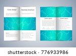 bi fold business brochure... | Shutterstock .eps vector #776933986