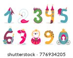 funny vector cute princess... | Shutterstock .eps vector #776934205