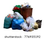 bin  trash bag plastic waste ... | Shutterstock . vector #776935192