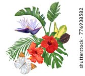 large bouquet of tropical... | Shutterstock .eps vector #776938582