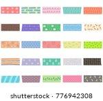 vector illustration set of cute ... | Shutterstock .eps vector #776942308