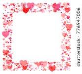 heart confetti frame or border  ... | Shutterstock .eps vector #776947006